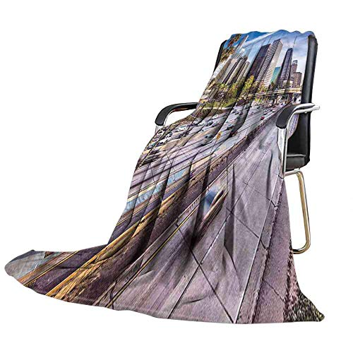 ZSUO Blanket Travel,Downtown Los Angeles USA Office Blanket Size:60