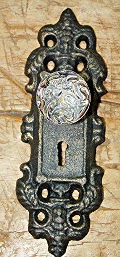 Vintage Antique Hooks 2 Cast Iron Victorian Style Barn Handle Drawer Pull Coat Hook Rack Back ()