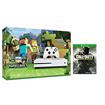 Xbox one S Console Bundle 2 items: Xbox One S 500GB Console-Minecraft bundle,Call of Duty:Infinite Warfare Game Disc(US Version, Imported)