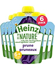 Heinz By Nature Organic Baby Food - Prune Purée - 128mL Pouch (Pack of 6)