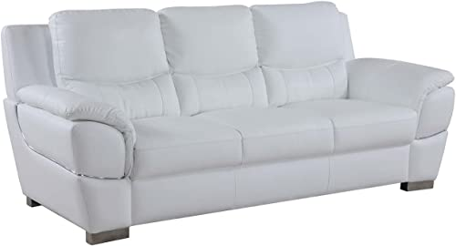 Blackjack Furniture 4572 Binion Collection Faux Leather Match Upholstered Modern Living Room