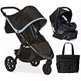 Britax B-Free / B-Safe 35 Infant Baby Stroller Travel System - Frost / Midnight with Diaper Bag