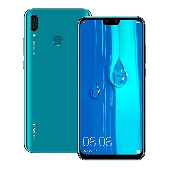 Huawei Y9 2019 (JKM-LX2) 4GB / 64GB 6.5-inches Dual SIM Factory Unlocked - International Stock No Warranty (Sapphire Blue)