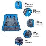 Wantdo Women's Hoodie Front Zip Raincoat Outdoor
