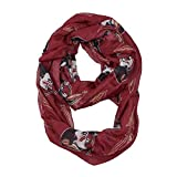 NCAA Florida State Seminoles Sheer Infinity Scarf, One Size, Red