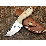 """Ash jj69b custom handmade hunting skinner knife 440c steel 6"""""""