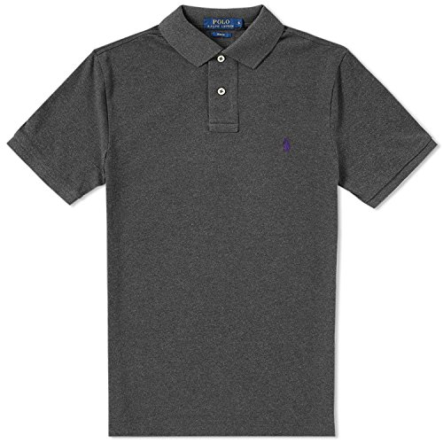 Polo Ralph Lauren Men's Classic Fit Mesh Polo Shirt (Small, Bristol Heather)
