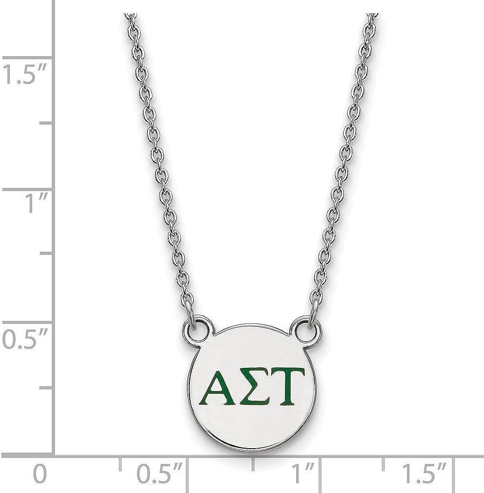 18 Sterling Silver Western Kentucky University Small Pendant w//Necklace by LogoArt