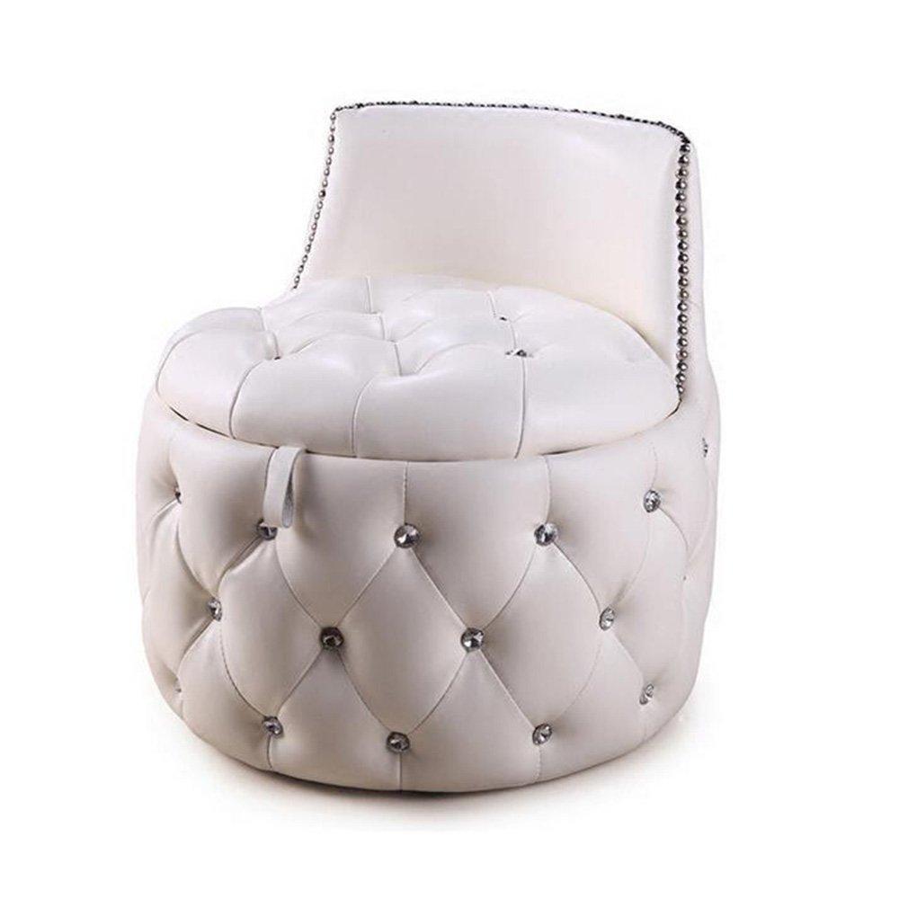 DIDIDD Sofa stool- round stool change shoe stool sofa stool european soft leather stool creative storage stool (2 colors available) --storage stool,A by DIDIDD