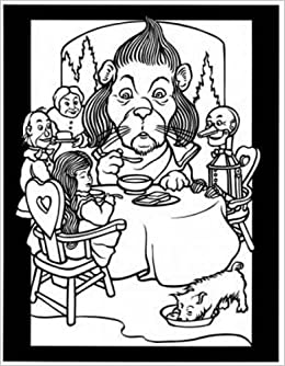 The Land of Oz Stained Glass Coloring Book (Dover Stained Glass ...