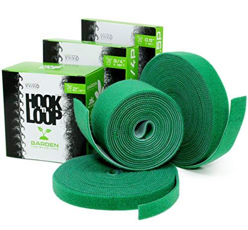VViViD Hook n' Loop Self-Adhesive Garden Management Strip 3-Pack Multi Roll Bundle ()