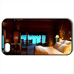 Beautiful Badroom - Case Cover for iPhone 4 and 4s (Modern Series, Watercolor style, Black)