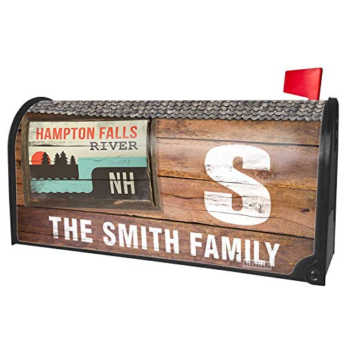 NEONBLOND Custom Mailbox Cover USA Rivers Hampton Falls River - New Hampshire
