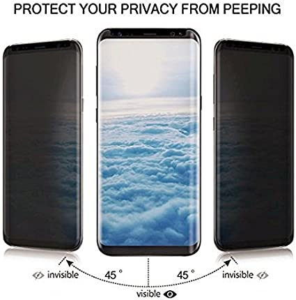 Anti-Fingerprint Anti-Scratch Ankoe Anti-Spy 3D Curved Privacy Tempered Glass for Samsung Galaxy S9 Plus Privacy Screen Protector Samsung Galaxy S9 Plus S9+ Bubble Free 2-Pack