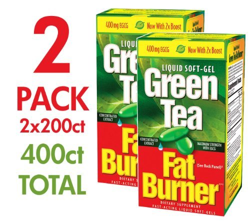 Applied Nutrition Green Tea Fat Burner with EGCG Single & Multi Pack (Two Bottles each of 200 Soft-Gels) by FAT BURNER