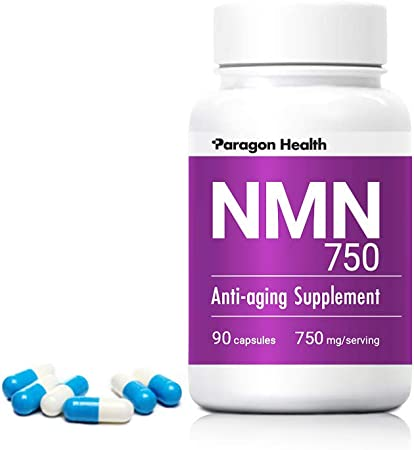 NMN750 (750mg/serving, 30 Day Supply) NMN Supplements – The Ultimate Anti Aging Supplement - Pure NMN (Nicotinamide Mononucleotide) – High Quality NAD Booster, 90 Capsules, 250mg/capsule