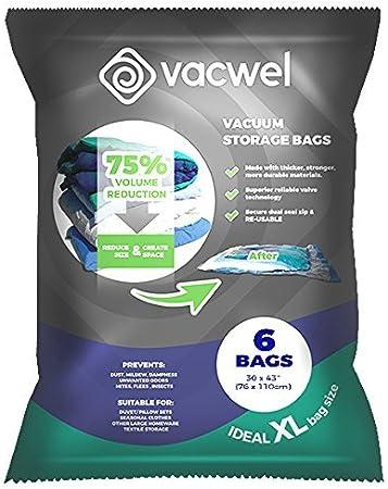 Amazon.com: Vacwel Bolsas de vacío ahorradoras de ...