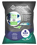 Vacwel Jumbo Vacuum Storage Bags for Clothes, Quilts, Pillows, Space Saver Size 43x30' Extra Strong (Pack of 6)