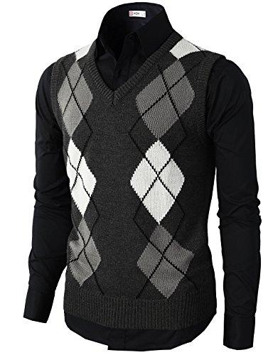 Argyle Cardigan Sweater - 8