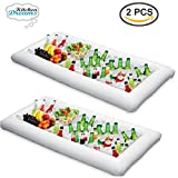 inflatable soda - Inflatable Pool Table Serving Bar - 2 pack Large Buffet Tray Server With Drain Plug - Keep Your Salads & Beverages Ice Cold - For Parties Indor & Outdoor use Bar Party Accessories - Kitchen Dreamers