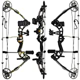"RAPTOR Compound Hunting Bow Kit: LIMBS MADE IN USA | Fully adjustable 24.5-31"" Draw 30-70 LB pull 
