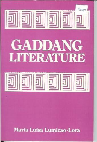 Gaddang literature: Maria Luisa Lumicao-Lora: 9789711001759