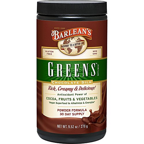 Powder Alkalizing (Barlean's Greens, Chocolate Silk, 9.52-oz)