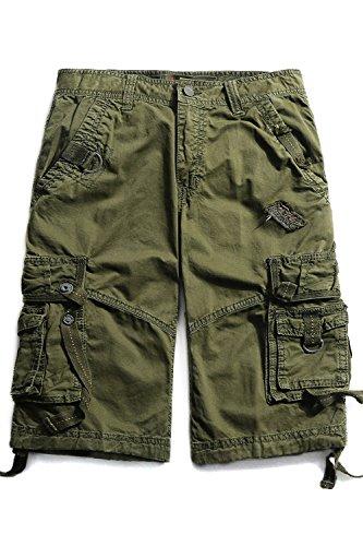 Cyparissus Mens Cargo Shorts Multi Pockets Short for Men (40, Army Green)