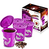 FROZ-CUP 2.0 - 4 Refillable/Reusable K-Cups for Keurig 2.0 - K200, K300, K400, K500 Series and all 1.0 Brewers (4-Pack)