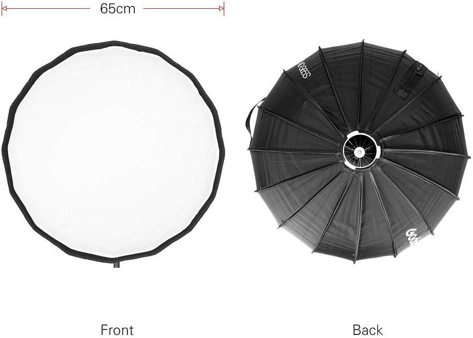 Godox AD-S65S 65cm// 25.6in Quick Installation Silver Reflector,Portable Softbox Umbrella for Godox AD400Pro AD300Pro Flash
