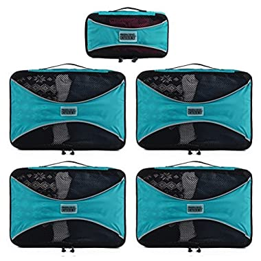 PRO Packing Cubes | 5 Piece | Organizers & Space Saver | Travel Cube Value Set