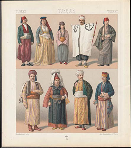 Set of three Firmin Didot chromolithograph plates Costumes of Turkey ca 1860s]()