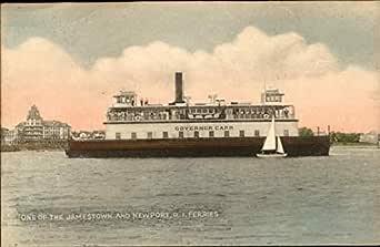 Postcard RI Newport Jamestown Ferry System Narragansett