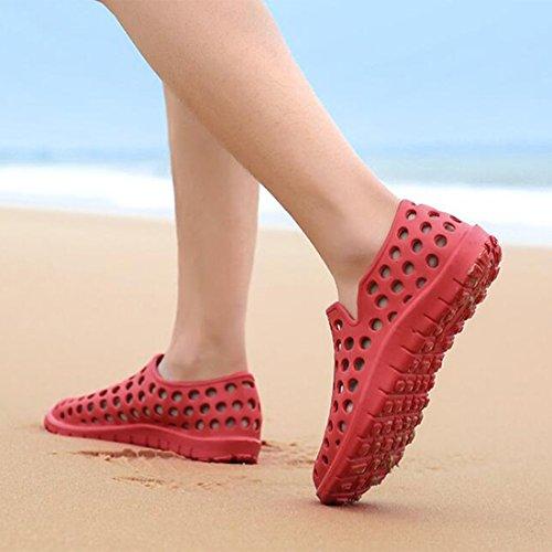 ZHONGST E Estivi Ciabattine di Sandali Sandali Spiaggia Red per Coppie da rRYHxrqwg