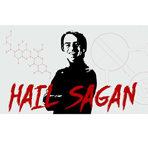 EvolveFISH Hail Sagan Bumper Sticker 5