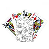 Italy Landscape Famous Travel Sketch Poker Playing Cards Tabletop Game Gift