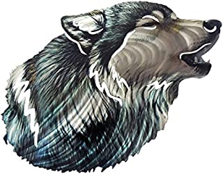 product image for Next Innovations Wolf 3D Steel Reflective Wall Art