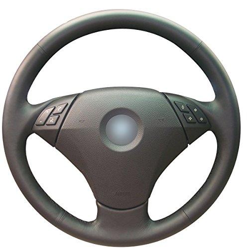 Loncky Auto Custom Fit OEM Black Leather Steering Wheel Covers for BMW 525i 525xi 528i xDrive 528xi 528i 530xiT 530xi 530i 535i xDrive 535xi 535i 545i 550i BMW Alpina B7 Interior Kit Accessories