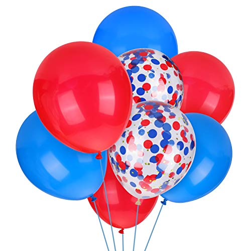 Spiderman Balloons 30 Packs Red and Blue Balloons