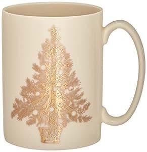 Lenox Golden Holidays Tree Mug, Ivory