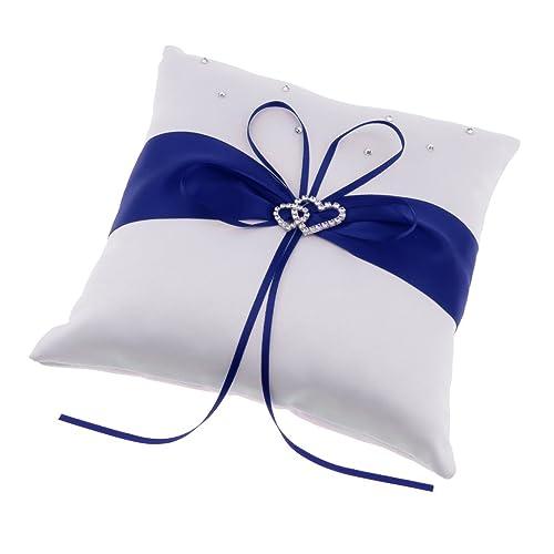 Cuscino Portafedi Bianco E Blu.Homyl Cuscino Di Anello Cuscini Portafedi Per Matrimonio Nozze