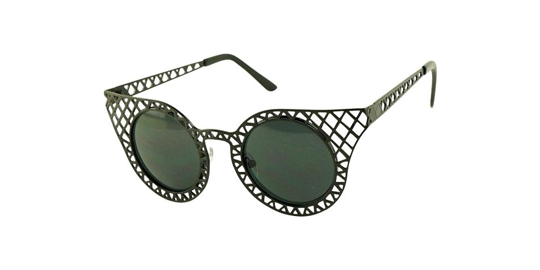 Black Vintage Women Sunglass Retro Fashion Lace Hollow Metal Frame Glass Eyeglass