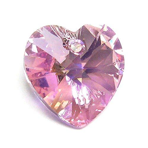 4 pcs Swarovski Xilion Crystal 6228 Heart Charm Pendant Light (Swarovski Crystal 10mm Hearts Charms)