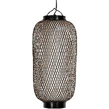 Oriental Furniture Swag Lamp Ceiling Hung Lighting, 17-Inch Kirosawa Japanese Classic Design Hanging Lantern