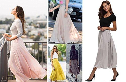 Falda Maxi Para Mujer Gris Abollria 1awz6w