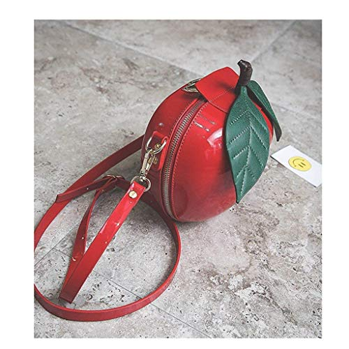a a Rosso con manici Colore Apple Borsa circolare Dimensione Verde mano Purse tracolla Borsa Accessori Fruit IIvaZ1