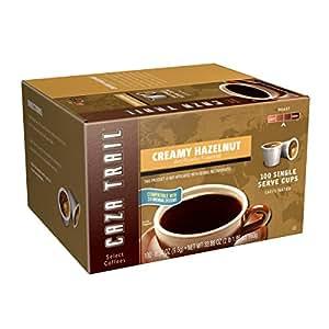 Caza Trail Coffee, Creamy Hazelnut, 100 Single Serve Cups