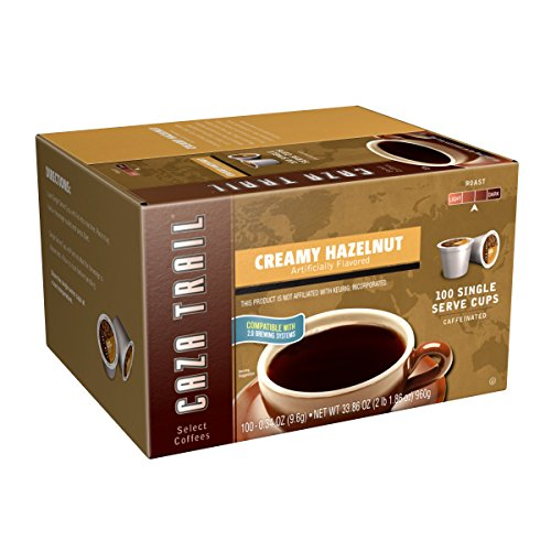 Caza Trail Coffee, Creamy Hazelnut, 100 Single Serve Cups