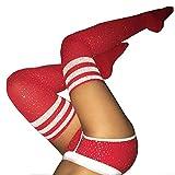 Womens Teen Girls Sexy Over The Knee Knit Socks Rhinestone Leg Warmers Stockings