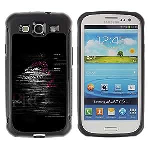 "Pulsar iFace Series Tpu silicona Carcasa Funda Case para Samsung Galaxy S3 III I9300 , Citar Texto hombre Deep Dark Negro"""